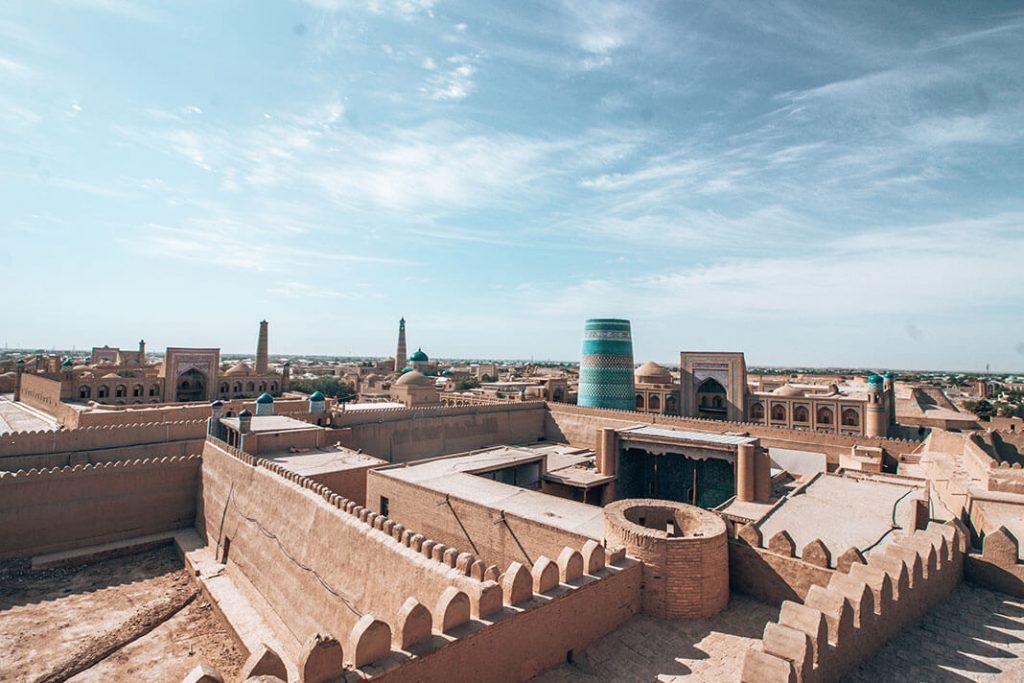 Muralla Itchan Kala Jiva Uzbekistan