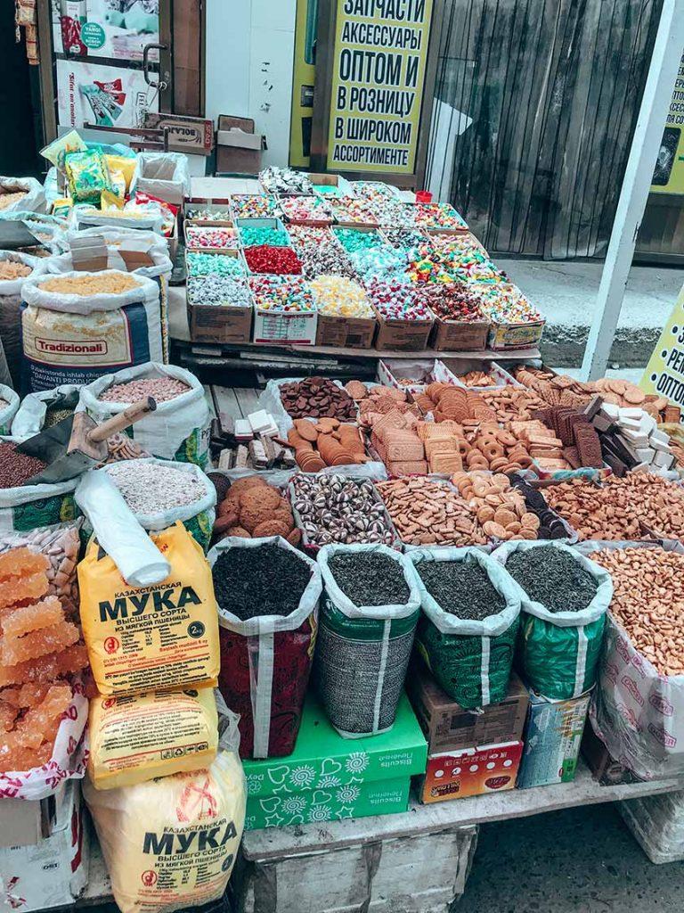 Mercado comida uzbekistan