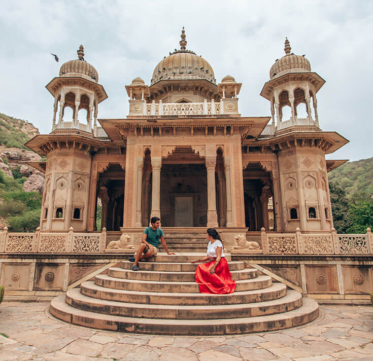 Cenotafios Gaitor Ki Chhatriyan India