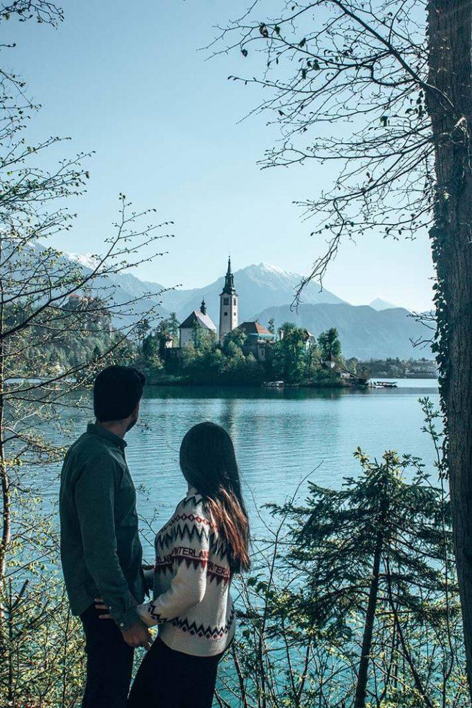 Lago isla Bled Eslovenia