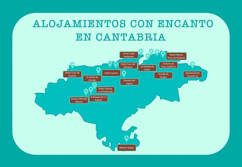Mapa ubicacion alojamientos Cantabria