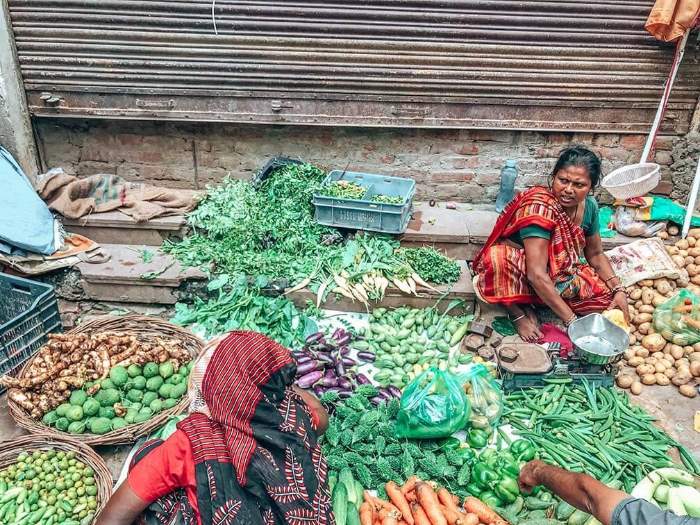 Mercado comida India