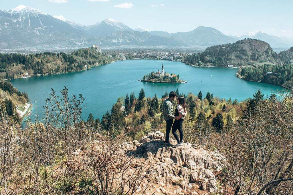 Mirador lago bled Eslovenia