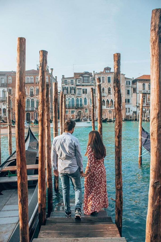 Muelle canales Venecia