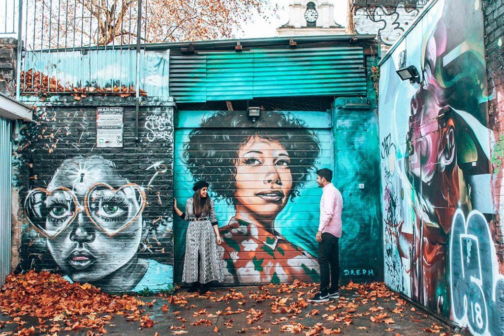 Mural bricklane Londres
