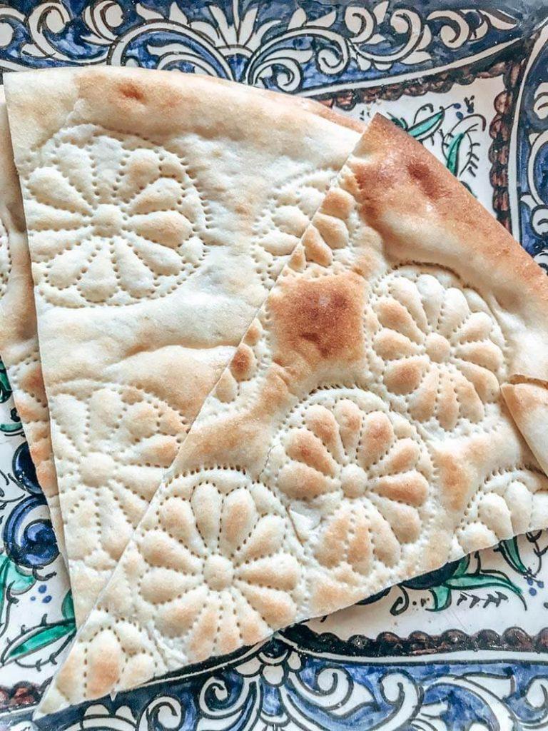 Pan típico de Uzbekistán