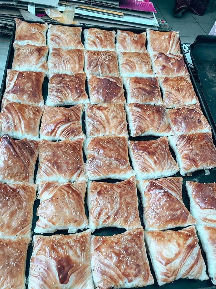Samsa plato típico uzbeko