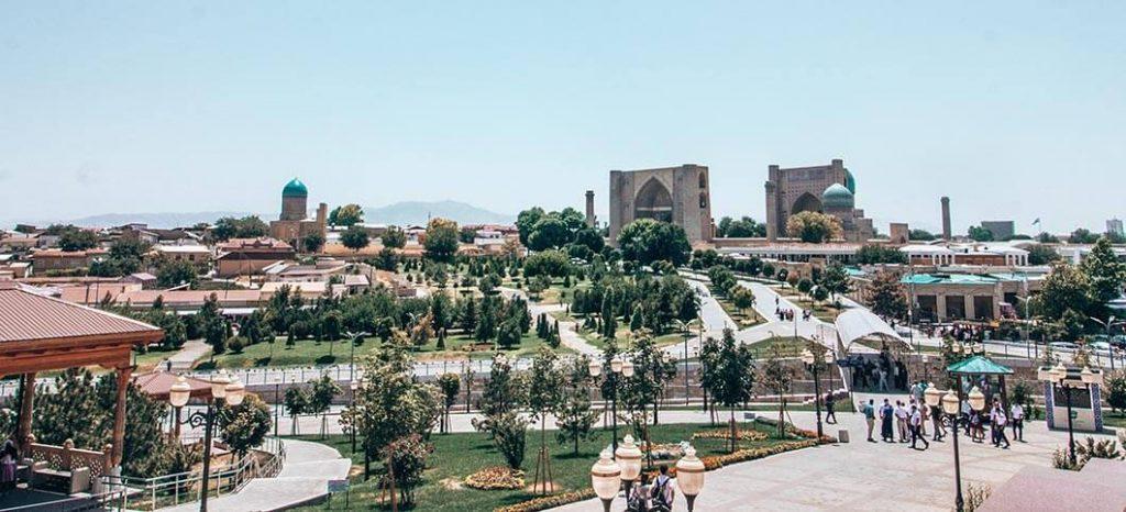 Vistas Samarcanda ciudad